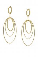 Gradual Oval Hoop Metal Drop Earrings