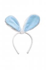 Blue Velour Bunny Ears