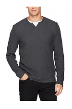Men's Wintz L/s Waffle Henley in Grease