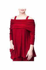 Uptown Tunic in Scarlet