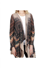 Mesh Cardi With Sublimation & Stone in Multi