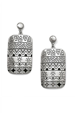 Africa Stories Etched Post Drop Earrings