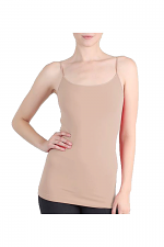 Long Cami in Spice Beige