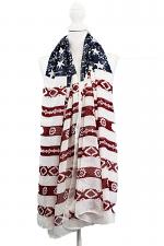 American Flag Printed Fashion Scarf