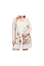 Long Sleeve Sublimation Cardigan With Lace