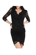 Surplus Front Lace Dress in Black