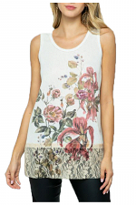 Floral Sleeveless Lace Tank