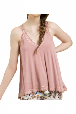 Lace Detailed Flowy Camisole
