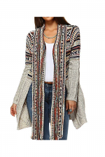 Bohemian Open Cardigan Sweater in Ivory