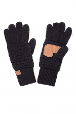 Quad Touch Screen Smart Cellphone Finger Tips Warm Soft Gloves