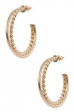 Twisted Metal Open Hoop Earrings