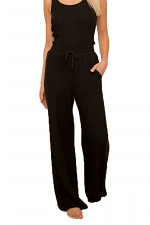 Brushed Hacci Wide Leg Pull On Pant