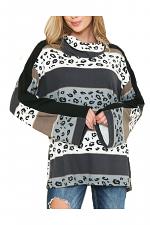 Animal Print Cowl Neck Top