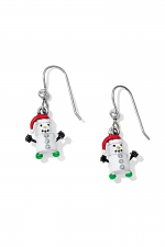 Marshmallow Snowman French Wire Earrings