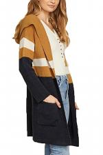 Soft Colorblock Hoodie Cardigan