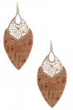 Cork Teardrop Moroccan Drop Earring