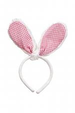 Pink Gingham Bunny Ears