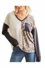 Animal Print Knit Top