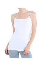 Long camisole in White
