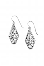 Deco Diamond French Wire Earrings