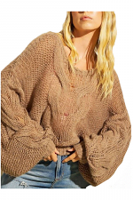 Chunky Cable Knit Oversized Sweater
