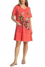Merryland Short Sleeve Dress with Pockets