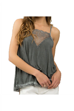 Adjustable Tank With Lace Detail