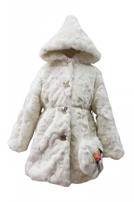 Girls Faux Fur Coat with Mini Shoulder Bag
