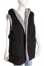 Chunky Sweater Sherpa Teddy Bear Vest
