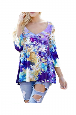 Long Sleeve Scoop Neck High Low Top