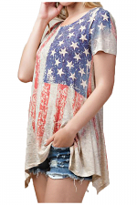 Flag Sublimation Top With Stones