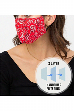 Bandanna Triple Layer Face Mask