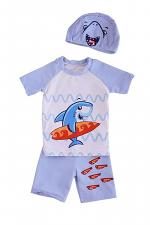 3 Piece Shark Boy Swim Suit