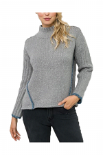 Edge Point Color High Lo Pullover Sweater