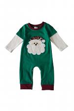 Green Santa Applique Baby Romper