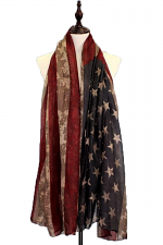 American Flag Printed Fashion Scarf