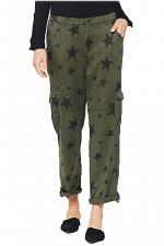 Ashe Olive Black Stars Utility Cargo Pant