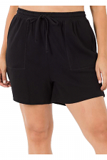 Plus Cotton Drawstring Shorts