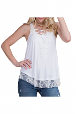 Laced Camisole Top with Criss-Cross Details
