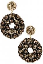 Seed Bead Disc Drop Earrings