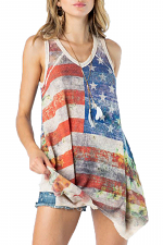 Flag Sublimation Tank Top with Stones