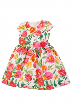 Floral pique Heart Back Detail Dress