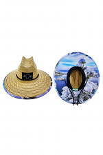 Snowy Emerald Bay Straw Hat