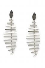 Fish Bone Metal Drop Earrings
