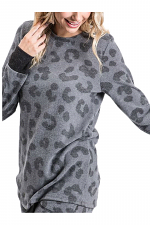 Animal Print Top with Round Neckline