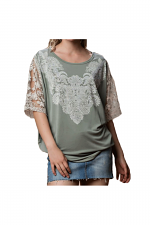 Kimono Sleeve with Lace
