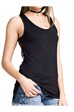 Lace tank Top With Stones