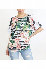 Short Sleeve Tee with Side Ruching