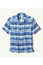 Geo Surf Silk Blend Camp Shirt