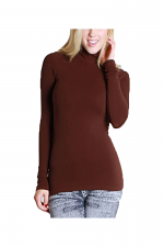 L/S Turtle Neck in Dark Brown
